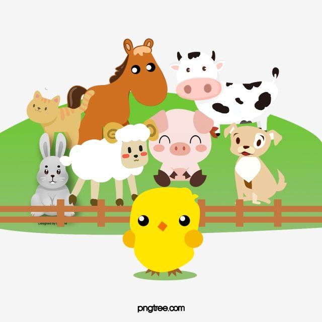 Los Animales De Granja Granja Dibujos Animados Encantador Png Y Psd Para Descargar Gratis Pngtree Baby Farm Animals Cute Animal Clipart Cartoon Animals