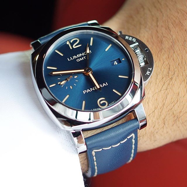 Another member of the blue dial collection.  The #Panerai PAM688 42mm Luminor 1950's that is limited to 300 units. Priced at 8,400 Euro. Pic by @inlovewithwatches #PaneraiCentral