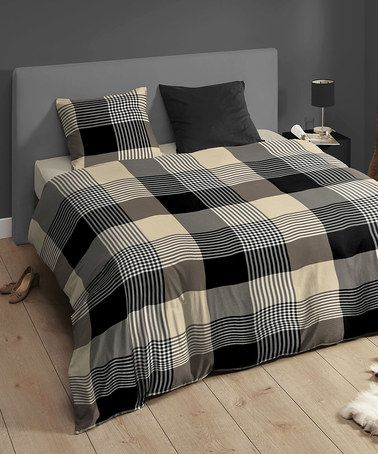 Take a look at this Black & Taupe Chequered Double Duvet Set by Descanso on #zulily today! http://www.zulily.co.uk/invite/akennington3