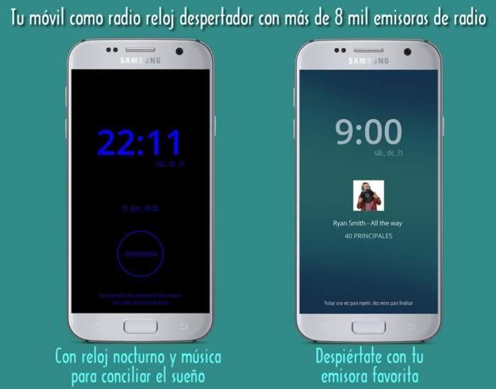Tu móvil como radio reloj despertador con más de 8 mil emisoras de radio #apps #despertador #radio