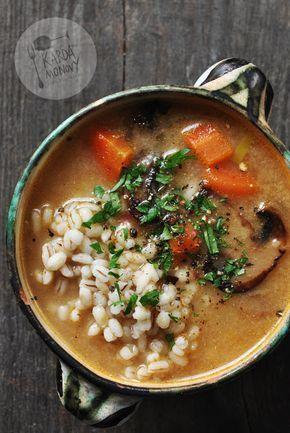 Kardamonovy: Zupa pieczarkowa z pęczakiem