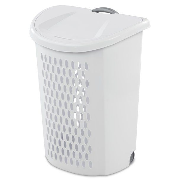 Sterilite Ultra Wheeled Hamper White Walmart Com In 2020