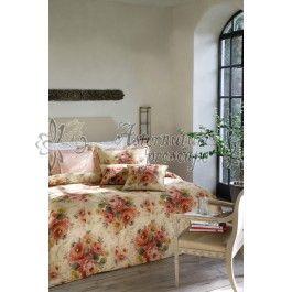 Valeron Blessing rosa - lenjerie de pat de lux din bumbac satinat imprimat digital