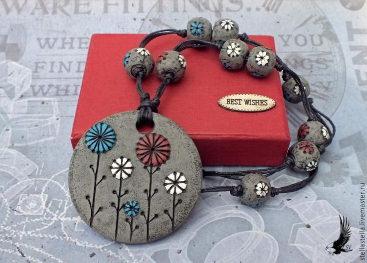 How to Model a Polymer Clay Pendant with Beads - Livemaster - original item, handmade