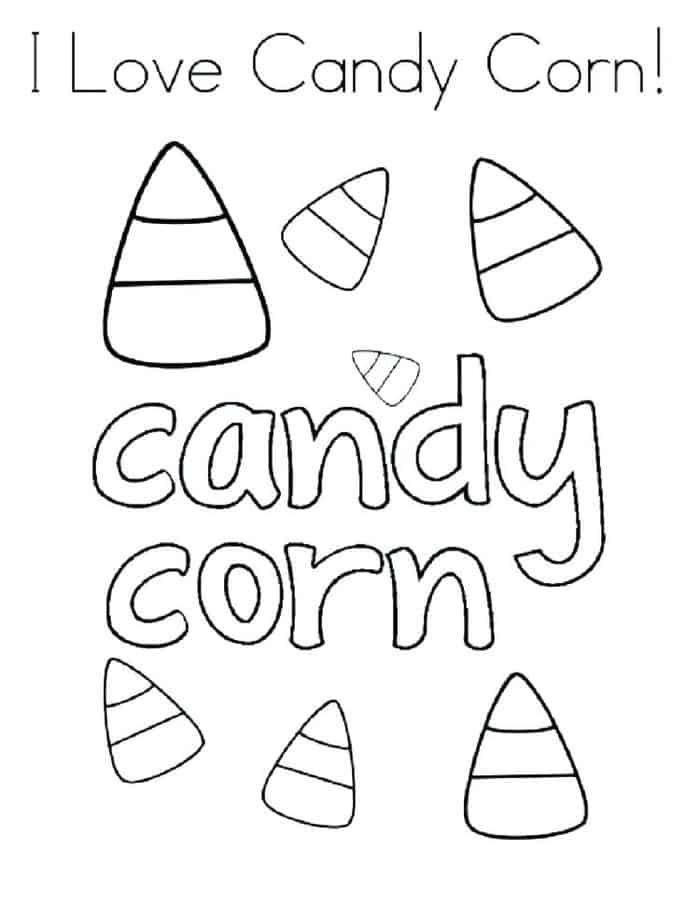 Coloring Pages Candy Corn In 2020 Candy Coloring Pages Candy Corn Halloween Coloring Pages