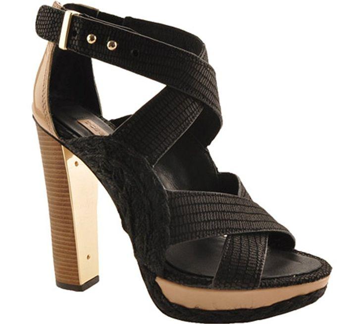 Via Spiga Womens Jorie Sandals Black Size 80 Owbs