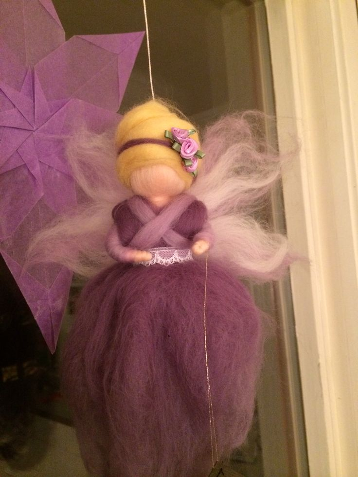 Waldorf wool fairy