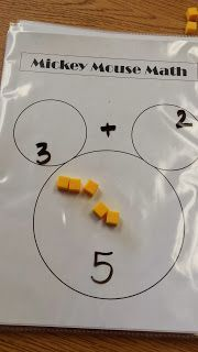 Mickey Mouse Math Kindergarten Addition