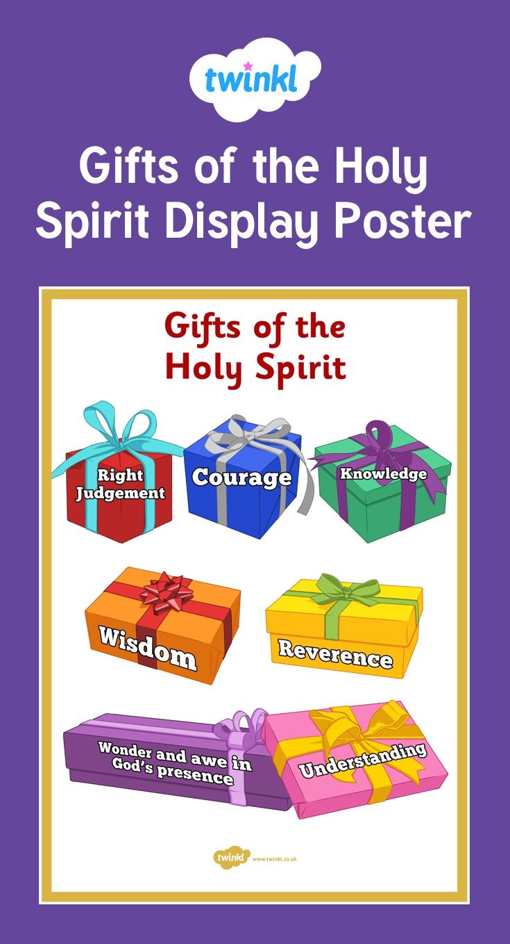 Gifts of the holy spirit display posters holy spirit