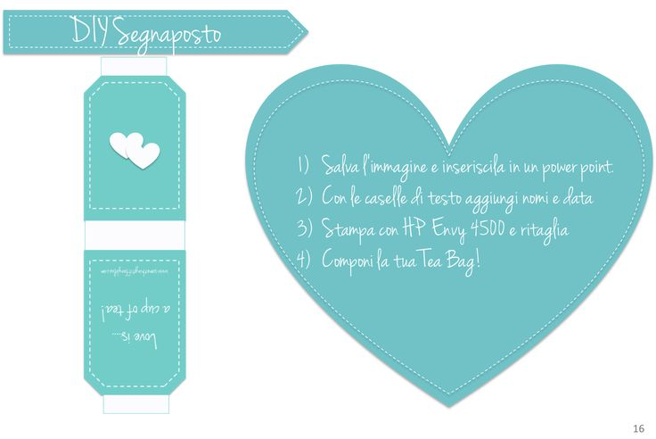 SEGNAPOSTO MATRIMONIO FAI-DA-TE, COME CREARE UNA TEA BAG PERSONALIZZATA By www.SomethingTiffanyBlue.com #wedding #diy #somethingtiffanyblue
