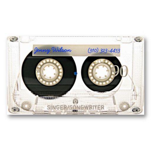 30代以上の方には思い出深い、カセットテープモチーフの名刺。#zazzle  #音楽  #ミュージック #名刺