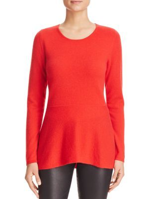 C by Bloomingdale's Peplum Cashmere Sweater | Bloomingdale's