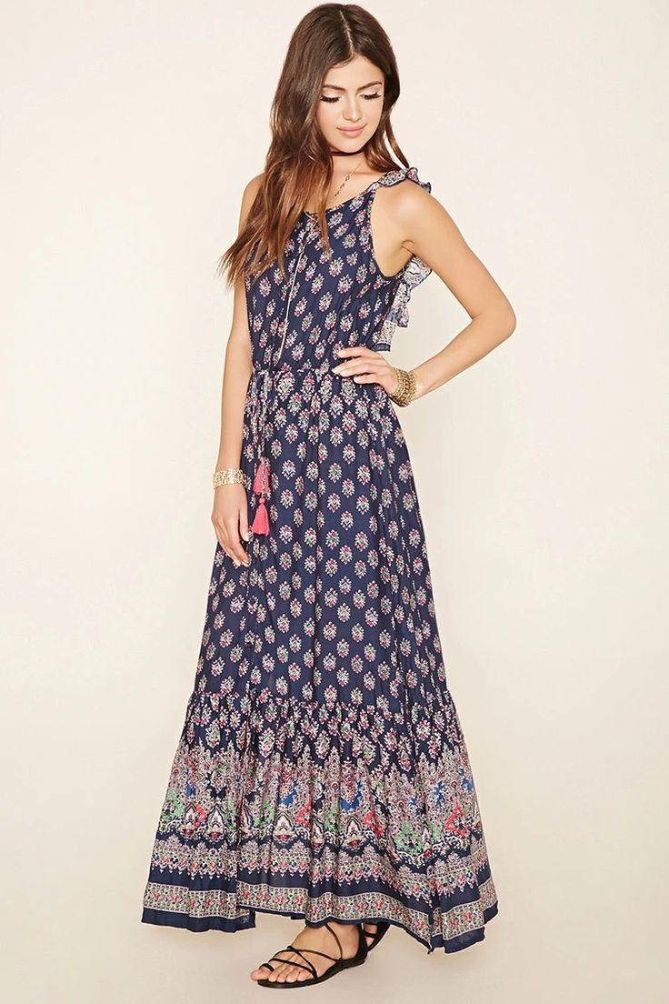 This ornate print maxi dress by Reverse #f21brandedshop