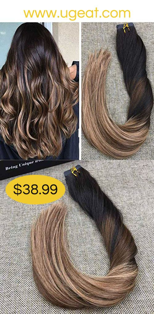 43 best ugeat human hair extensions show images on pinterest black to chocolate brown and caramel brown ombre color and balayage color hair new pmusecretfo Image collections