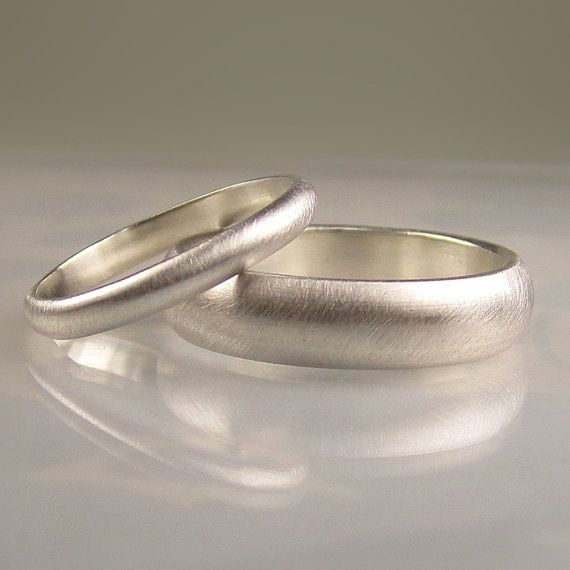 Palladium Sterling Wedding Band Set $225.00