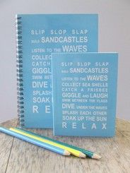 beach notebook stationery - Google Search