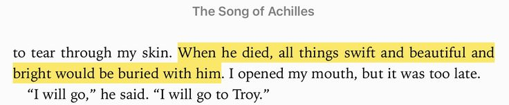 *cries* Song of Achilles