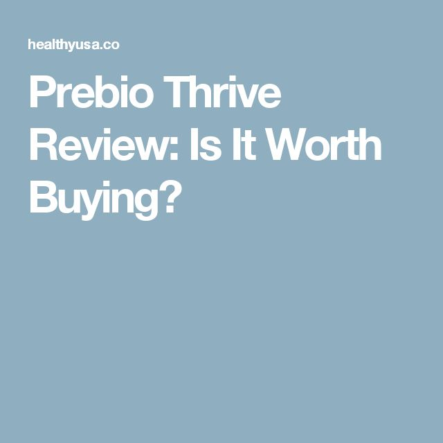 Prebio Thrive Review: Is It Worth Buying?