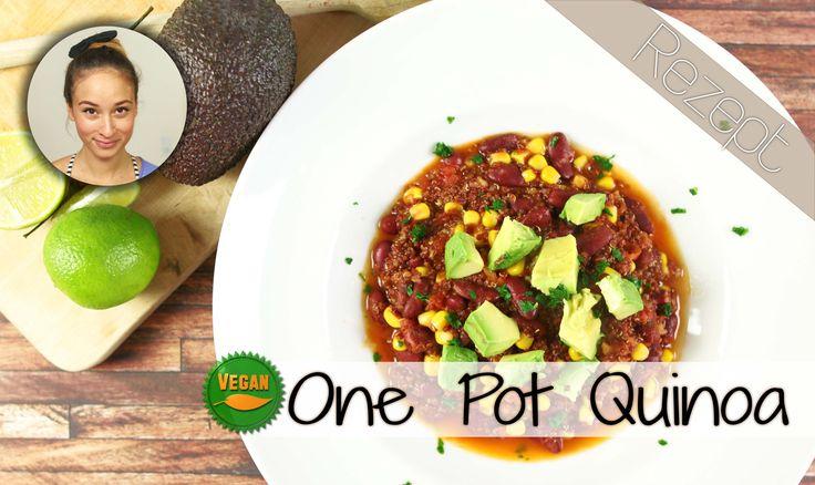 Quinoa One Pot Rezept - gesunde Chili sin Carne - 5 Minuten Vorbereitung...
