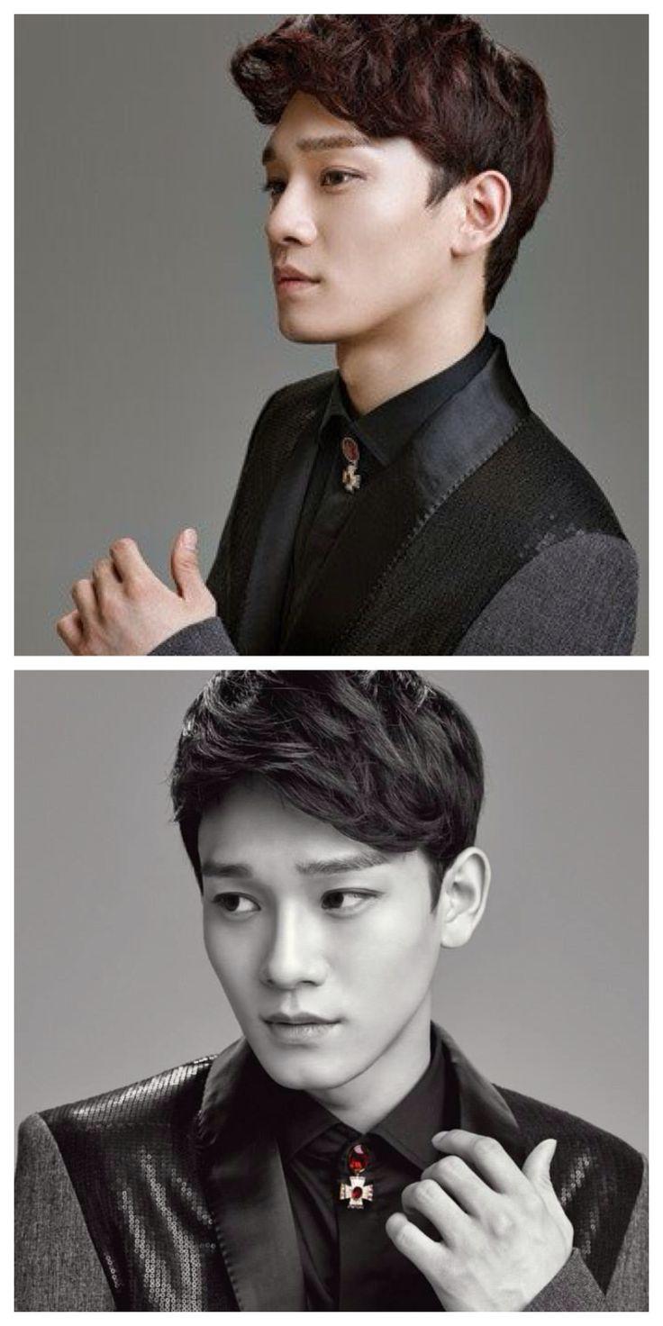 EXO Chen bw so fucking handsome. Omo #exo #chen #jongdae