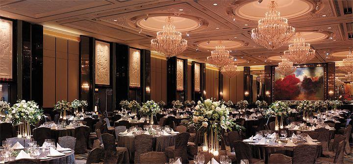 Ballroom set-up at  Shangri-La Hotel, Singapore.