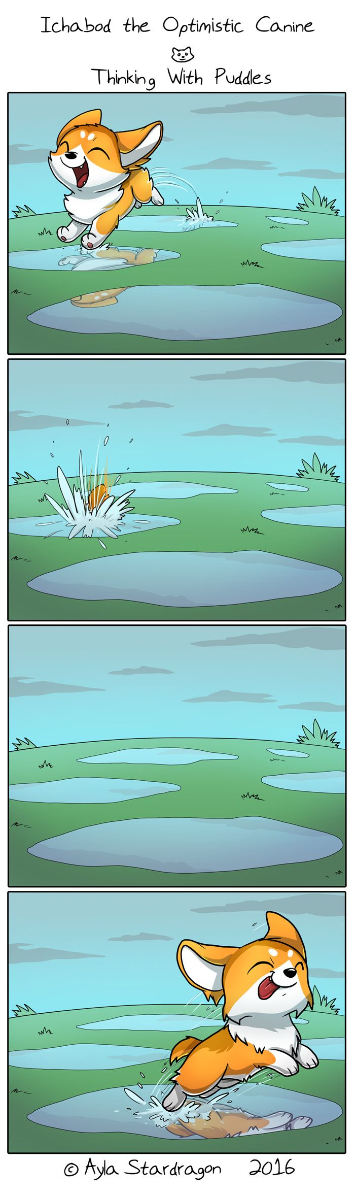 Ichabod the Optimistic Canine :: Thinking With Puddles | Tapastic Comics - image 1