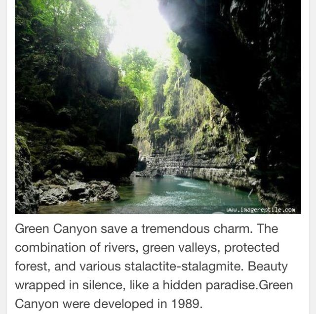 Green Canyon-West Java Indonesia.