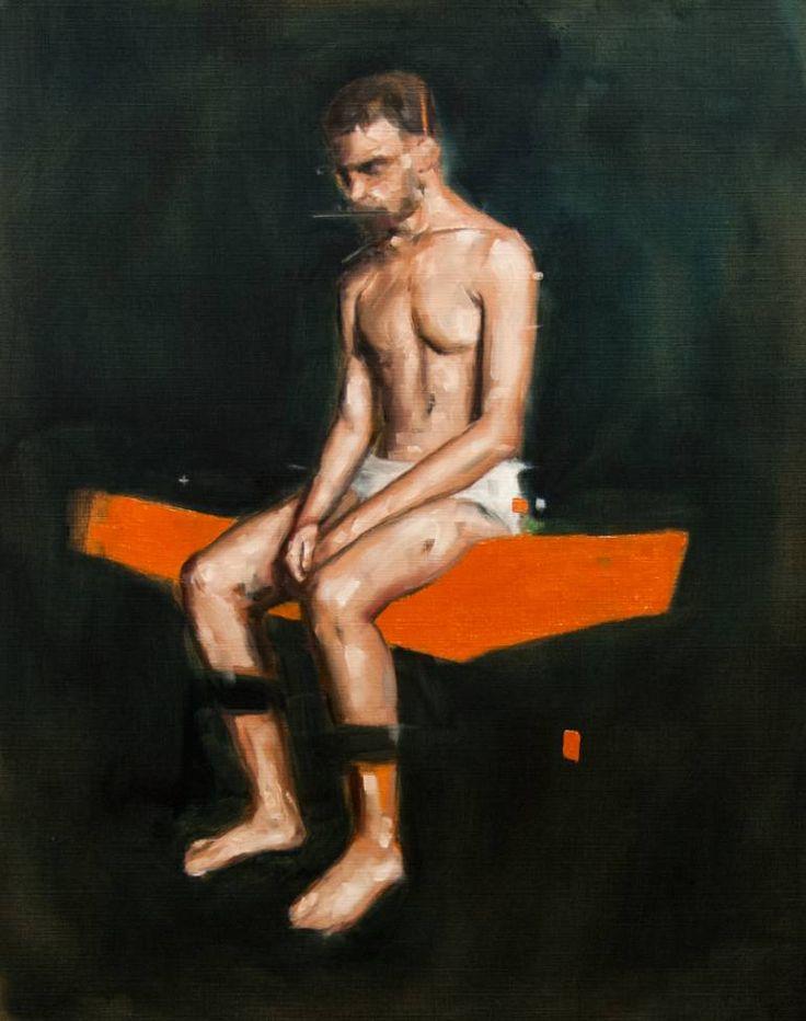 "$520: Saatchi Art Artist Davide Cambria; Painting, ""Figure Study"" #art"