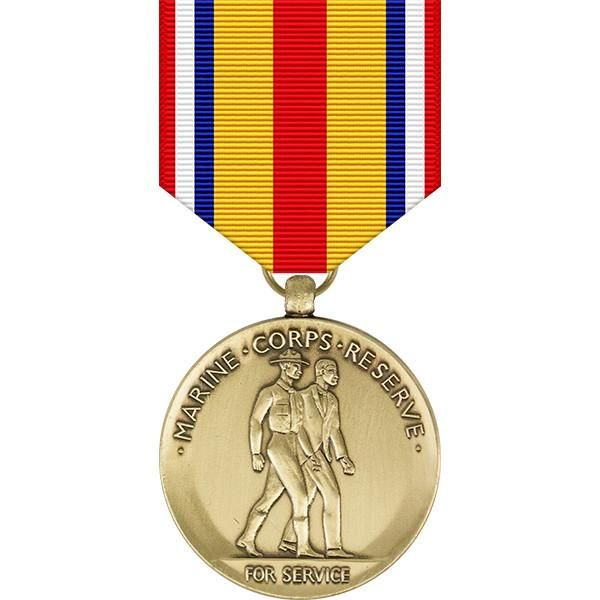 Successive awards of the Selected Marine Corps Reserve Medal are indicated by bronze service stars worn as attachments on the award medal. Description from usamilitarymedals.com. I searched for this on bing.com/images