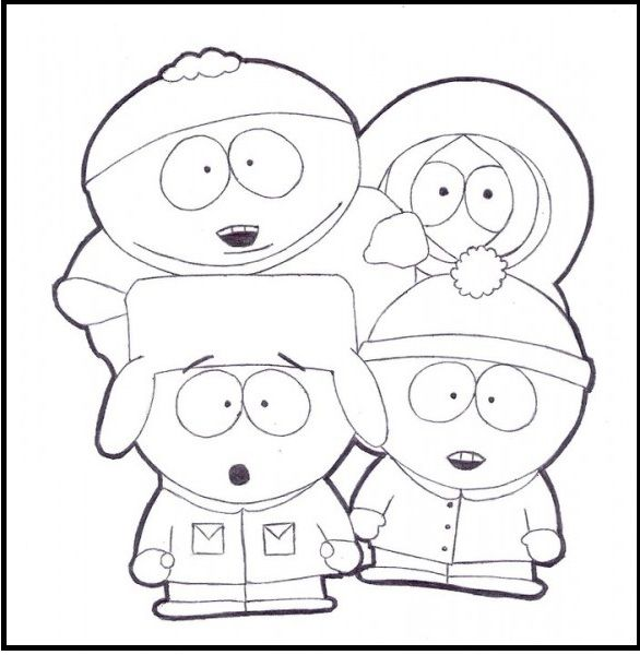 South Park Coloring Map South Park Coloring Book - Free Printable ...
