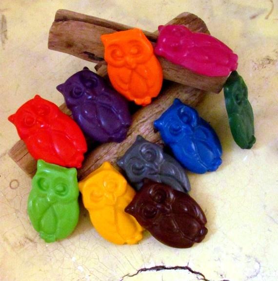 owl crayons!
