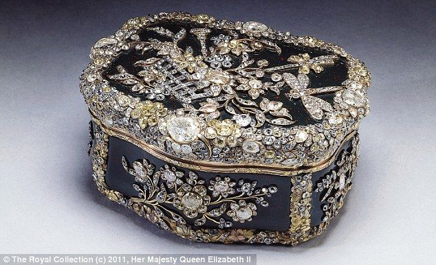 Jewel encrusted snuff box made for King Frederick the Great of Prussia, c.1770-75