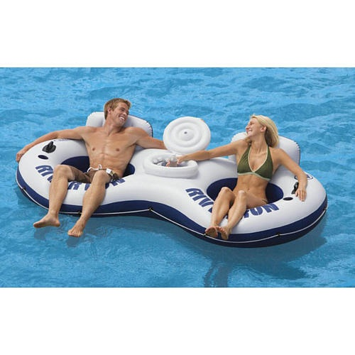 The River Run Inflatable Tube II (double person), is a big comfy two person river tube measures 94
