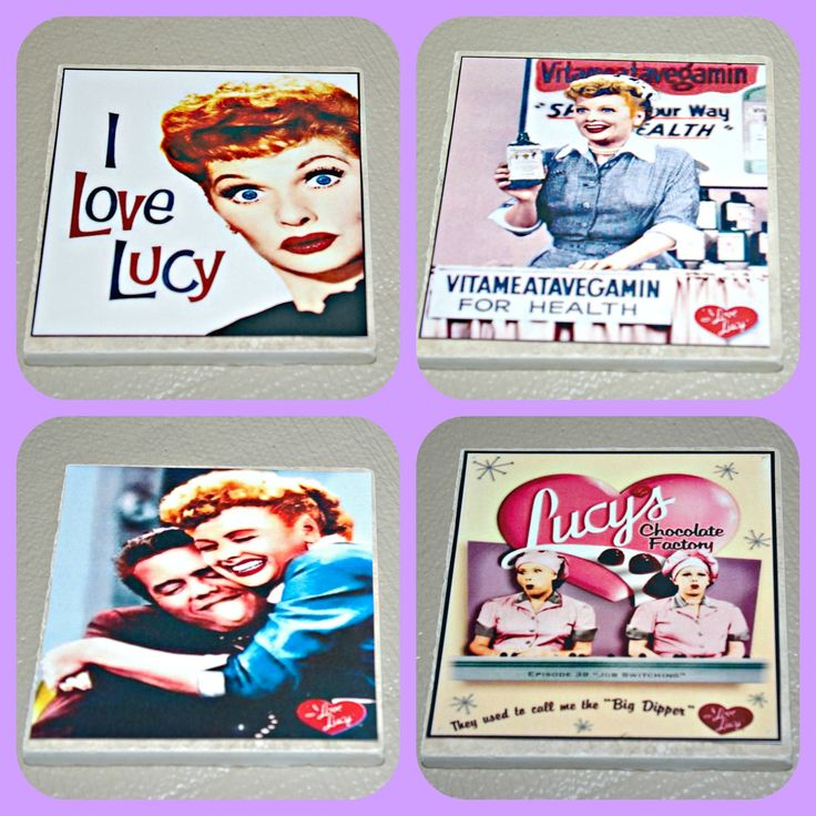 I Love Lucy - I Love Lucy Gift - Lucille Ball - Lucy Ball - TV Show - Classic TV - Tile Coasters  - I Love Lucy Decor - Lucy Ricardo - Lucy by STLCool on Etsy