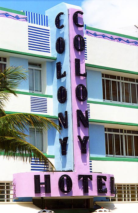 Miami Beach - Art Deco. Wall Art at http://frank-romeo.artistwebsites.com/