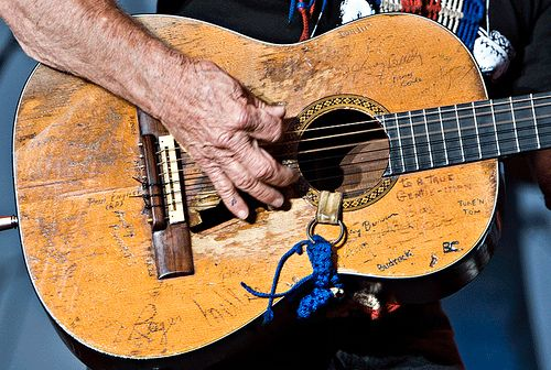 """One of the secrets to my sound is almost beyond explanation.  My battered old Martin guitar, Trigger, has the greatest tone I've ever heard from a guitar — and I've played a lot of guitars.""  Willie Nelson"