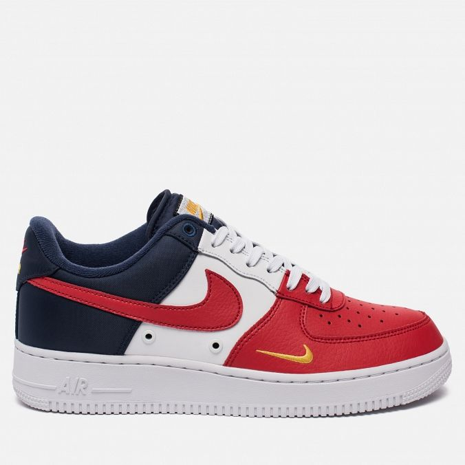 Мужские кроссовки Nike Air Force 1 '07 LV8 Independence Day Obsidian/White/University Red