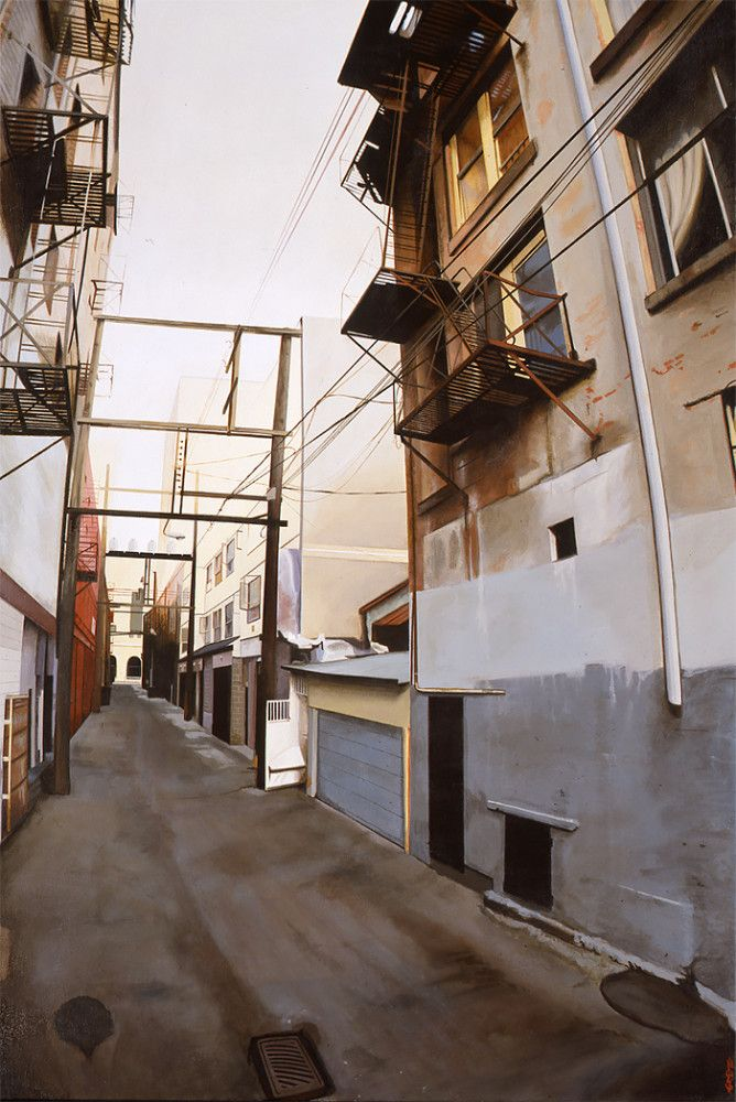 Realistic Urban Paintings by Graeme Berglund