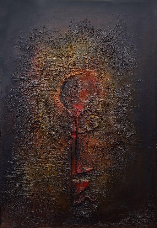 EMOCIONÁLNÍ PRŮSER - EMOTIONAL BUMMER   – strukturální olejomalba na plátně. - structural oil painting on canvas.  40 x 60 cm, 2014