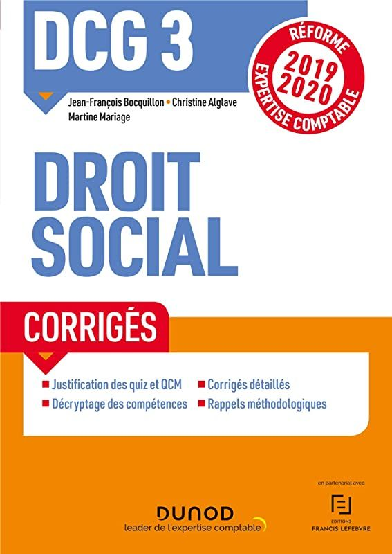 Ebook Gratuit Dcg 3 Droit Social Corriges Dcg 3 Droit Social De Jean Francois Bocquillon E Ebook Pdf Free Reading Ebook