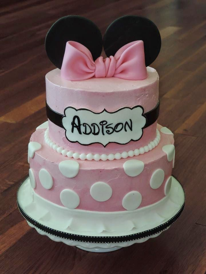 Cakes by Becky: Buttercream Minnie Mouse Cake