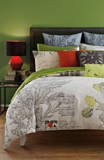 Kas Designs 'Letters From Paris' Duvet Cover (Online Only) available at #Nordstrom - Love this, just not sure about the white and how fast it will get dirty!