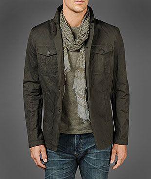 John Varvatos Official Site: Shop Online , VARV-4181 Four Button Military Jacket, johnvarvatos.com
