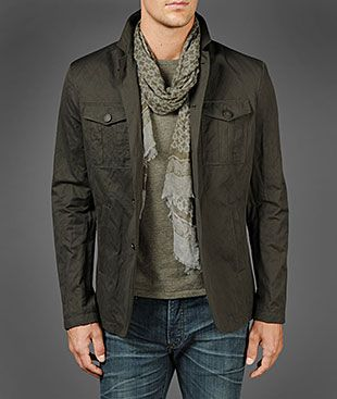 John Varvatos Official Site: Shop Online , VARV-4181 Four Button Military Jacket, johnvarvatos.com