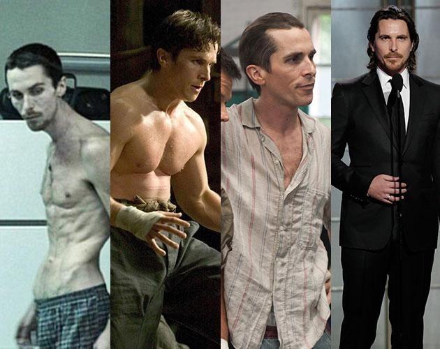 Reconnu pour se dévouer à ses rôles, Christian Bale n'hésite pas non plus à se transformer physiquement comme en 2004 dans «The Machinist» où il ne pesait que 120 livres. Ensuite, il a subi un entraînement rigoureux pour «Batman Begins» en 2005 où il a pris des muscles. En 2010, il a reperdu tout son poids pour «The Fighter» qui lui permit de récolter l'Oscar du meilleur acteur de soutien.