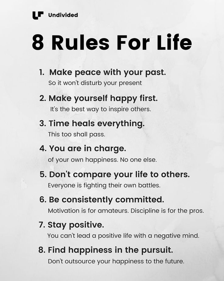 Remember these 8 rules and youre golden
