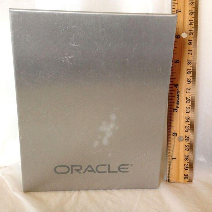 Leeds 10 Disc Aluminum DVD CD Case Carrier Media Storage Box w/ Oracle Logo…