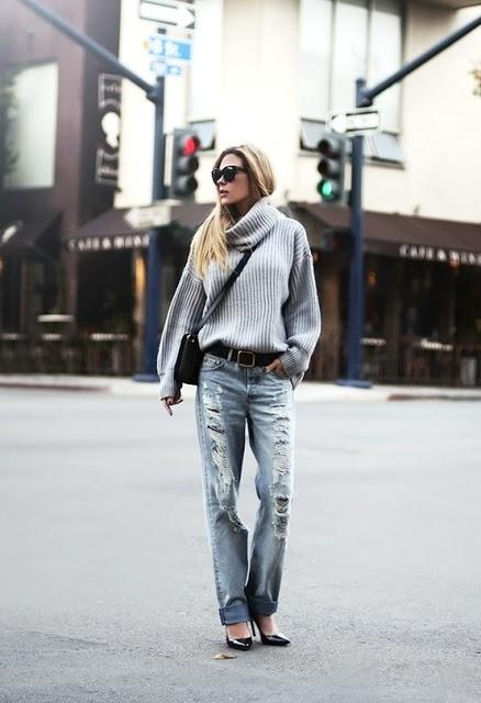 Casual - Big sweaters & boyfriend jeans
