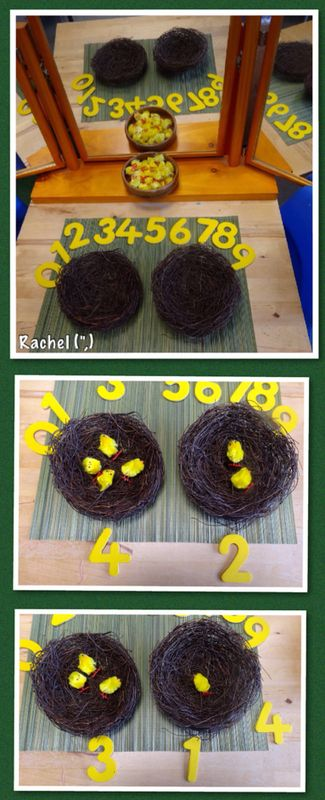 Easter Chick Counting & Simple Addition (from Stimulating Learning With Rachel)