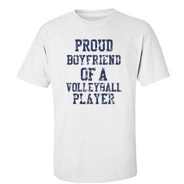 Volleyball Boyfriend | Proud volleyball boyfriend tshirt.